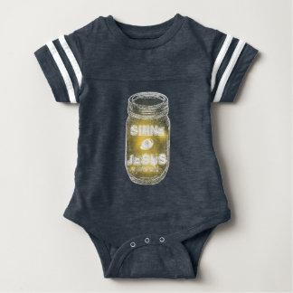 Shine 4 Jesus Mason Jar Chalkboard Style Kids Baby Bodysuit