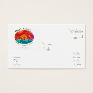 Shine a Light Counseling Center Business Card
