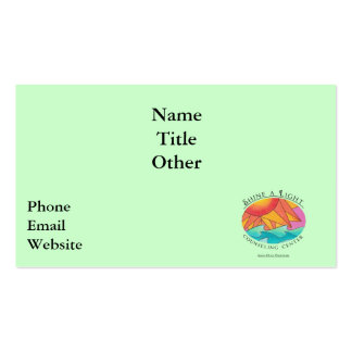 Shine a Light Counseling Center Business card 1