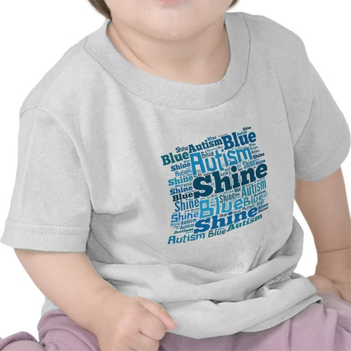 Shine Blue for Autism Products T-shirts