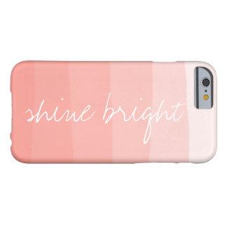 Shine Bright | Coral Peach Watercolor Ombre Stripe Barely There iPhone 6 Case
