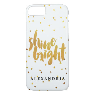 Shine Bright Gold Confetti iPhone 7 Case