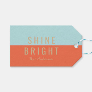 Shine Bright Holiday Pack Of Gift Tags