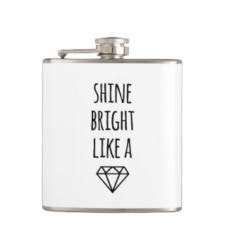 Shine Bright Like a Diamond Flasks