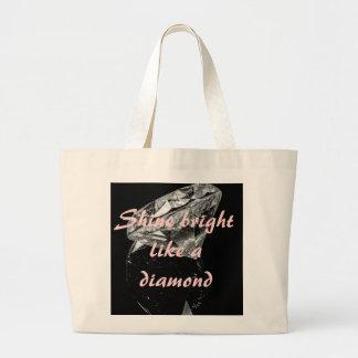 Shine Bright Like A Diamond Jumbo Tote Canvas Bags