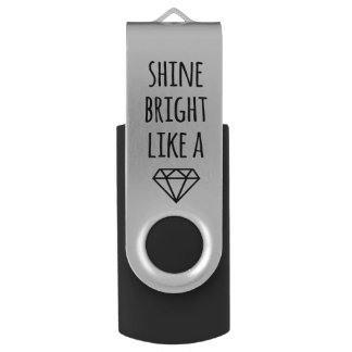 Shine Bright Like a Diamond USB Drive Swivel USB 2.0 Flash Drive