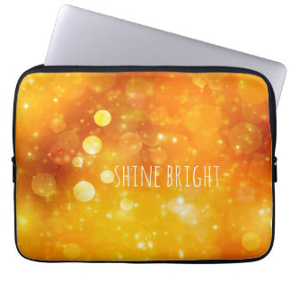 Shine Bright Quote with Sparkle Design Laptop Sleeve