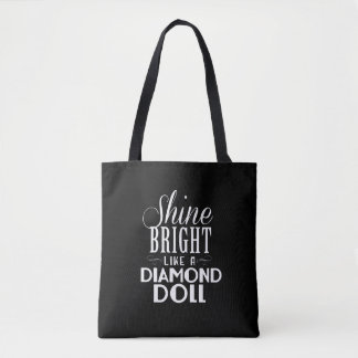 Shine Bright Tote Bag - Black