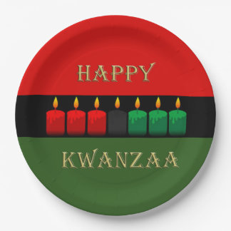 Shine Brightly Kwanzaa Party Paper Plates 9 Inch Paper Plate