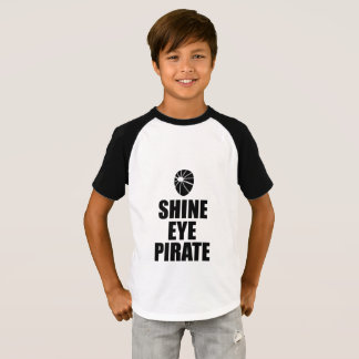 Shine Eye Pirate Eyepatch. Dark Text T-Shirt