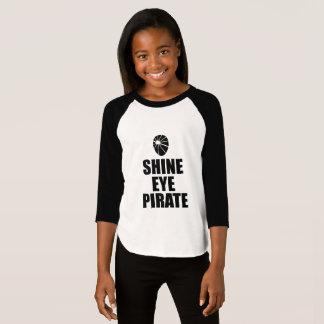 Shine Eye Pirate Eyepatch. Dark Text T-Shirt
