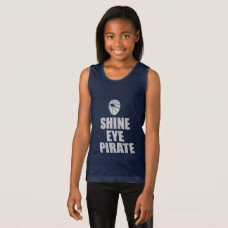 Shine Eye Pirate Eyepatch. Light Text Tank Top