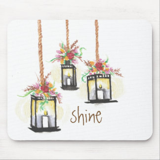 Shine Floral Lanterns Mouse Pad