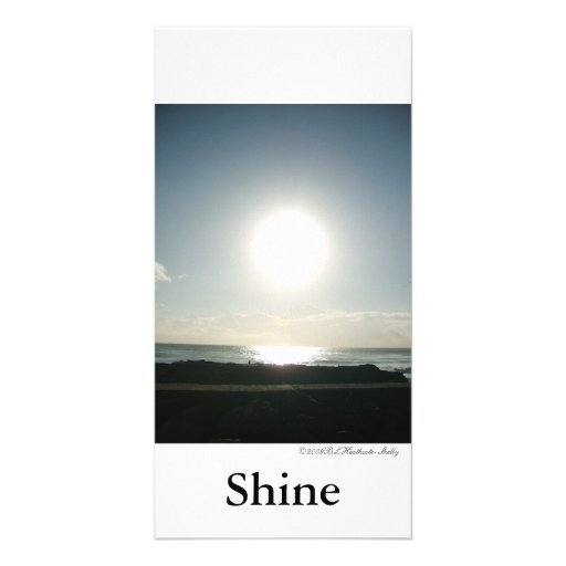 Shine Greeting Card Photo Card Template