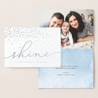 Shine | Hanukkah Photo Silver Foil Card