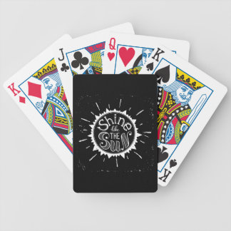 Shine Like The Sun Bicycle Playing Cards