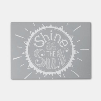 Shine Like The Sun Post-it Notes