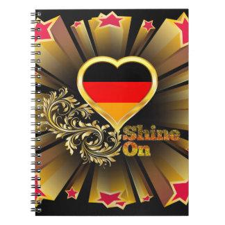 Shine On Germany Spiral Notebook