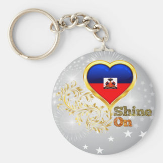 Shine On Haiti Basic Round Button Keychain