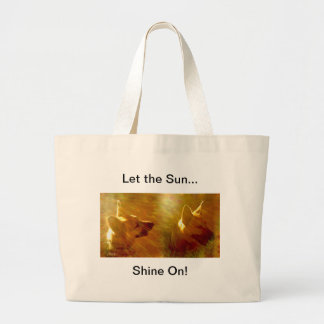 Shine On Me German Shepherd Large Tote Bag