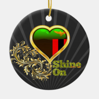 Shine On Zambia Ceramic Ornament