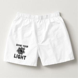 """""""Shine Your Light"""" Men's Boxercraft Cotton Boxers"""