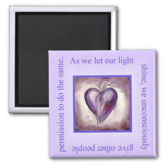Shine Your Light Square Magnet