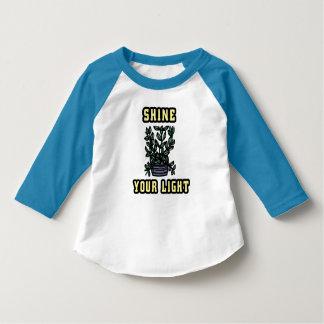 """Shine Your Light"" Toddler 3/4 Sleeve Raglan T-Shi T-Shirt"