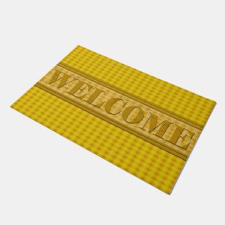 Shined Gold Yellow Door Mat