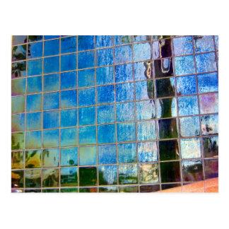 shiney blue tiles postcard