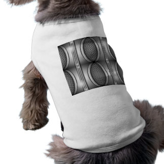 SHINEY SILVER SPEAKERS PET SHIRT
