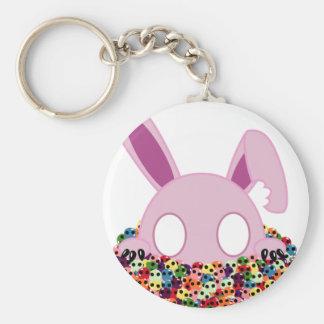 Shinikaru the Bunny - Sugar Skulls Keychain