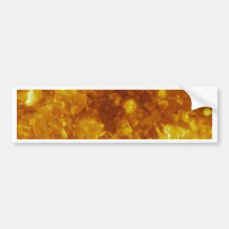 shining and shimmering, golden bumper sticker