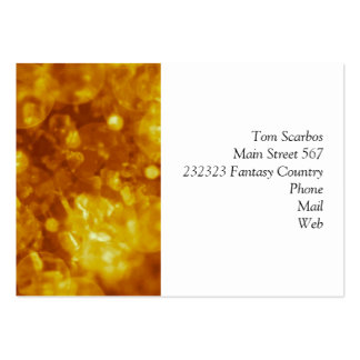 shining and shimmering golden business card