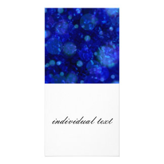 shining and shimmering, inky blue picture card