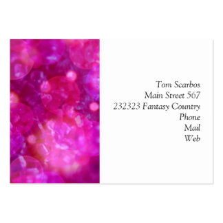 shining and shimmering pink business cards