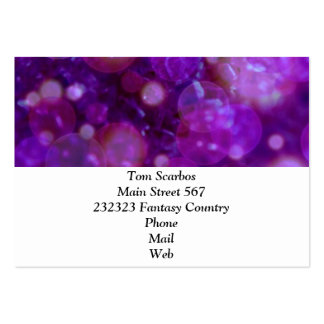 shining and shimmering purple business card template