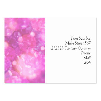 shining and shimmering soft pink business cards