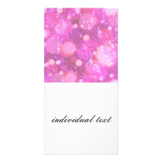 shining and shimmering,soft pink personalized photo card