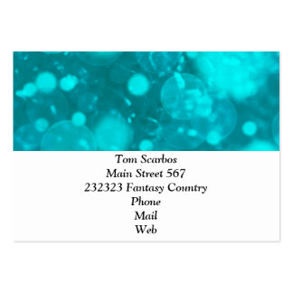 shining and shimmering turquoise business card templates