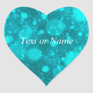 shining and shimmering,turquoise heart sticker