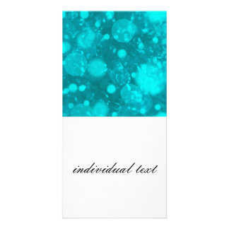 shining and shimmering,turquoise picture card