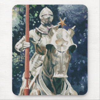 """""""Shining Armor"""" Knight Watercolor Mouse Pad"""