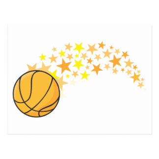 Shining Basketball Star Postcard