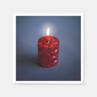 Shining candle disposable napkins