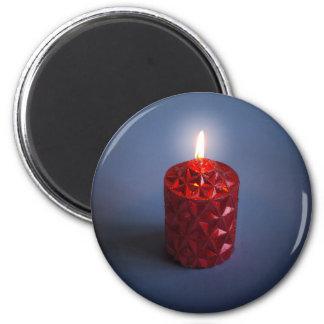 Shining candle magnet
