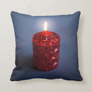 Shining candle throw pillow