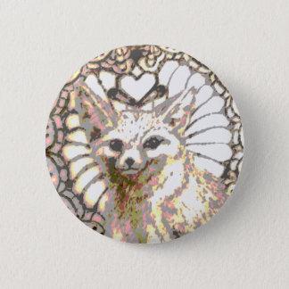 Shining Desert Fox 2 Inch Round Button