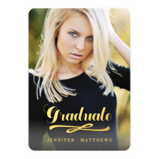 Shining Graduate | Photo Graduation Party Card