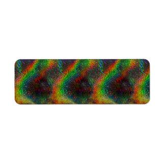 Shining Holographic Rainbow Lights Glitter Wave